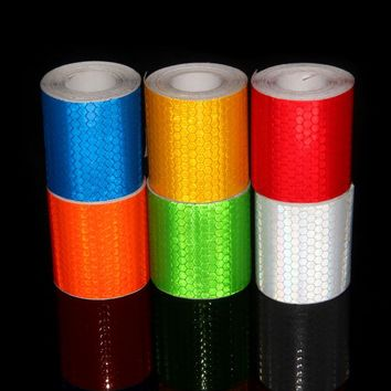 3M Reflective Tape Motorcycle Helmet Stickers Adhesive Reflective Tape Hat Stickers Yellow Orange Lime Green Adhesive Tape