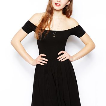 ASOS Mini Bardot Skater Dress
