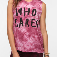 2x3 Who Cares Tie-Dye Muscle Tee