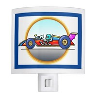 Racecar Race Car Night Light