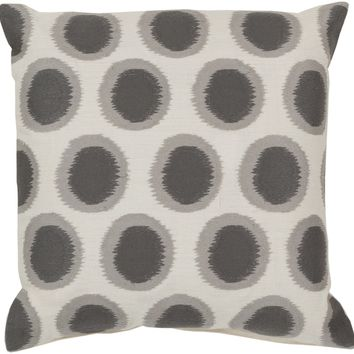 Ikat Dots Throw Pillow Neutral, Gray