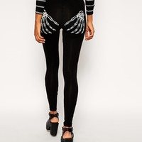 ASOS Halloween Legging in Glow in Dark Skeleton Hands