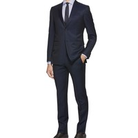 Suit Cool wool Hook-and-bar, zip 2 buttons R Blue 84% Wool, 16% Mohair wool (49146011NJ) | Z Zegna