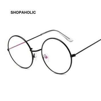Retro Glasses Round Men Women Optical Frame Transparent Glasses Frames with Clear Vintage Oval Glass Male Female Spectacle