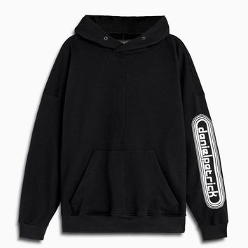 dp retro hoodie / black + natural