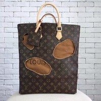 Louis Vuitton Monogram With Holes Rei Kawakubo M40279 Brown Tote Bag