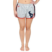 Houston Texans Official NFL Womens Pinstripe Shorts