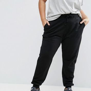 ASOS CURVE Basic Jogger with Tie at asos.com