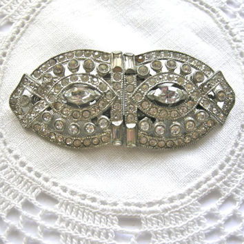 Art Deco CORO DUETTE  1930s Vintage Brooch Pin & Clips  Pat. 1798867 and 1852188