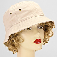 Bucket Hats Casual Cotton White