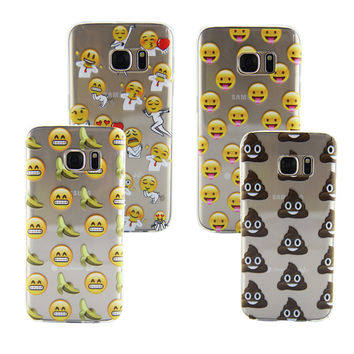 Stylish Galaxy S7/Galaxy S7 Edge Cute Emoji  Soft Phone Case [8564193159]