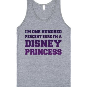 Princess Material-Unisex Athletic Grey Tank