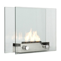 Portable Tempered Glass Fireplace