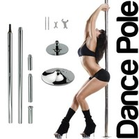 Wacces New Pro Portable Stripper Fitness Exercise Spin Spinning Professional Dance Dancing Strip Spinning Pole, 45mm