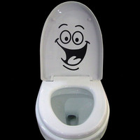 1pcs Big Mouth Toilet Stickers Wall Decorations DIY Vinyl Home Decal art Waterproof Posters Paper