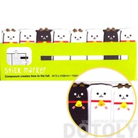 Goat Sheep Shaped Farm Animal Themed Memo Pad Post-it Index Sticky Tabs