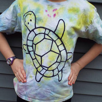 Kids Turtle T-Shirt, Kids Large Tie Dye Shirt for Your Turtle Lover, Turtle Shirt, Reptile Lover, Boys Clothes, Girls Clothes, Animal Lover