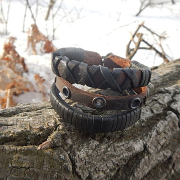 Genuine leather brown bracelet Fate, leather bracelet, leather cuff, brown leather bracelet, custom leather bracelet, FREE SHIPPING