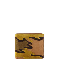 Camouflage Suede Bi-Fold Wallet - Burberry