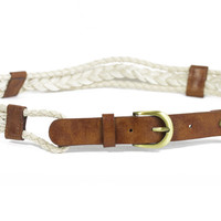 Braided Cream Hip Belt