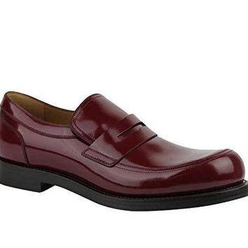 Gucci Polished Cocoa Penny Burgundy Leather Loafer Shoes 386541 6148 (9 G / 10 US)
