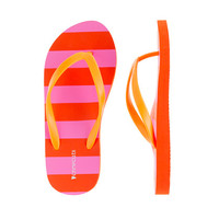 Girls' stripe flip-flops - flip-flops & sandals - Girl's shoes - J.Crew