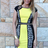 MALEFTICENT DRESS , DRESSES, TOPS, BOTTOMS, JACKETS & JUMPERS, ACCESSORIES, SALE, PRE ORDER, NEW ARRIVALS, PLAYSUIT, COLOUR,,Yellow,Print Australia, Queensland, Brisbane