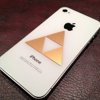Zelda Triforce Sticker Vinyl Decal for iPhone 4 by glitterstickers