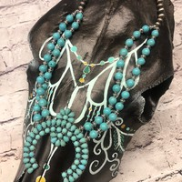 Squash Blossom Necklace-turquoise