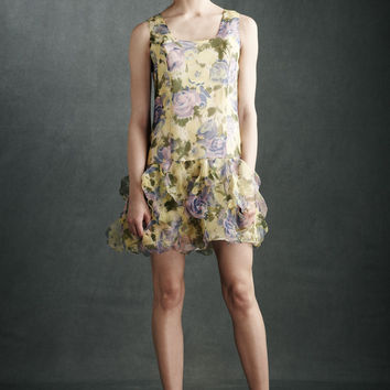 BHLDN Anna Sui Silk Castle Hill Shift Dress - Floral