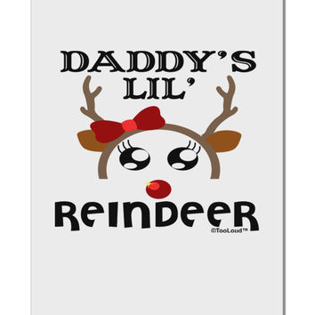 "Daddy's Lil Reindeer Girl Aluminum 8 x 12"" Sign"
