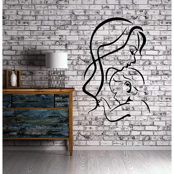 Mother And Baby New Born Child Mural  Wall Art Decor Vinyl Sticker Unique Gift z599
