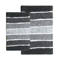 Benzara CHB003-3 Cordural Mixed Bath Mat (Set Of 2)