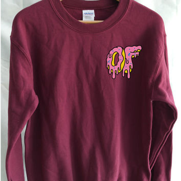 aa815206fccd8c Odd Future Dripping Breast Logo Donut Sweater Mens Funy T-shirt - OFWGKTA  Wolf Gang