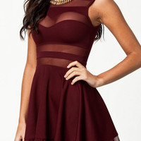 Adrianne Wine Dress