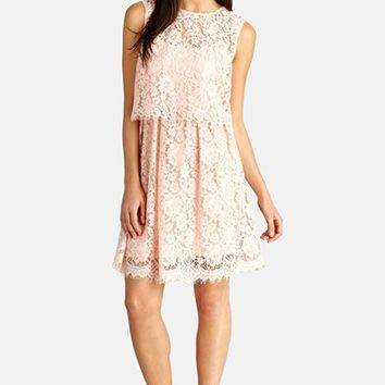 Women's Donna Morgan Lace Popover Dress