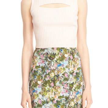 Cushnie et Ochs Ryan Cutout Rib Knit Crop Top | Nordstrom