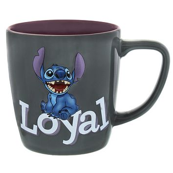 disney parks 3d stitch personality brave ceramic coffee mug new