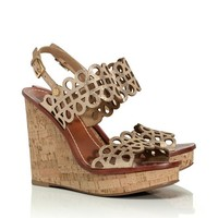 NORI METALLIC WEDGE SANDAL