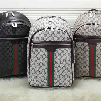 """""""Gucci""""Personality All-match Stripe Classic Retro Fashion Zip Print Unisex Shoulder Messenger Bag Backpack"""