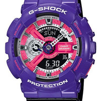 Casio Mens G-Shock - Analog-Digital - Purple 3-D Face - Black Strap - 200M
