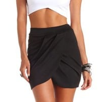 Pleated Tulip Mini Skirt by Charlotte Russe - Black