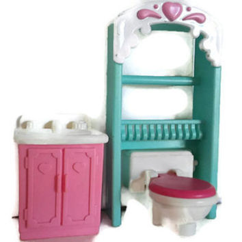 Fisher Price Loving Family Dollhouse Bathroom Set