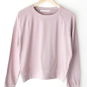 Dusty Pink Raglan Sweatshirt