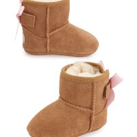 Jesse Suede Boot w/ Bow, Chestnut, Infants' Sizes 0-18 Months - UGG Australia