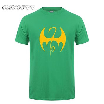 Fashion The Iron Fist Men T Shirts Summer Style Short Sleeve Cotton Superhero Ironfist T-shirt Men Clothing Tops OT-573