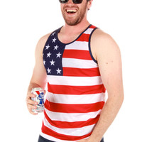 American Flag Pacific Surf Tank Top