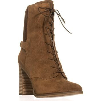 MICHAEL Michael Kors Carrigan Bootie Lace Up Mid-Calf Boots, Dark Caramel, 11 US / 42.5 EU