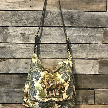 Horse Hippie Old English Flap Bag