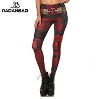 New Fashion Women Super HERO Deadpool and Harley Quinn leggings